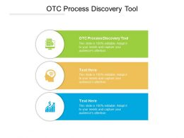 OTC Process Discovery Tool Ppt Powerpoint Presentation Infographic Template Ideas Cpb