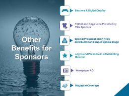 Other Benefits For Sponsors Magzine Coverage