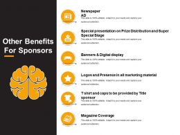 Other Benefits For Sponsors Powerpoint Slide Graphics