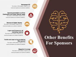 Other Benefits For Sponsors Powerpoint Slide Themes