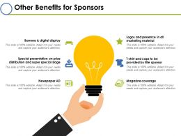 Other Benefits For Sponsors Ppt Inspiration Styles