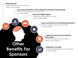 Other Benefits For Sponsors Presentation Portfolio