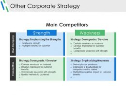 Other Corporate Strategy Example Ppt Presentation