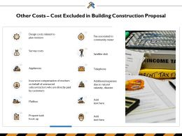 Other Costs Cost Excluded In Building Construction Proposal Ppt Powerpoint Presentation Icon