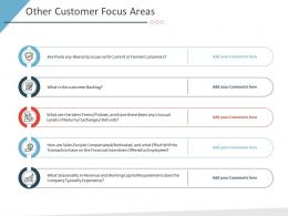 Other Customer Focus Areas Business Purchase Due Diligence Ppt Download