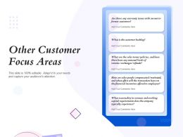 Other Customer Focus Areas Customer Backlog Ppt Powerpoint Presentation Graphics