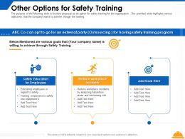 Other Options For Safety Training Education Ppt Powerpoint Presentation Summary Format Ideas
