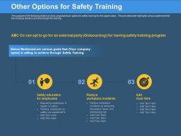 Other Options For Safety Training Use Equipments Ppt Powerpoint Presentation Icon Background Image