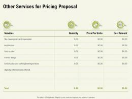 Other Services For Pricing Proposal Ppt Powerpoint Presentation Layouts Guidelines