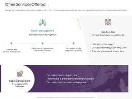 Other Services Offered Management Ppt Powerpoint Presentation Model Example