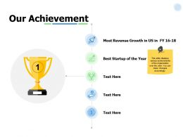 Our Achievement Revenue Ppt Powerpoint Presentation Pictures Infographic Template