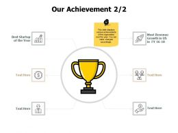 Our Achievement Winner J215 Ppt Powerpoint Presentation File Shapes