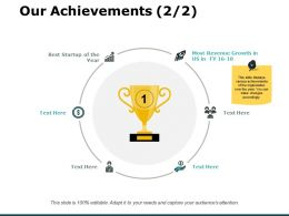 Our Achievements Revenue Ppt Powerpoint Presentation Slides Graphics