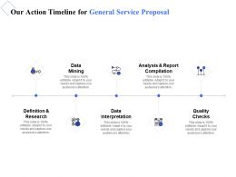 Our Action Timeline For General Service Proposal Ppt Powerpoint Presentation Tips