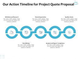 Our Action Timeline For Project Quote Proposal Ppt Powerpoint Presentation Gallery