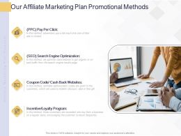 Our Affiliate Marketing Plan Promotional Methods Ppt Powerpoint Presentation File Maker