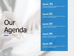 Our Agenda Audiences Attention Ppt Powerpoint Presentation Infographics Summary