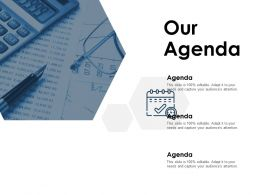 Our Agenda Business A74 Ppt Powerpoint Presentation File Show