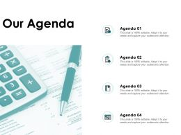 Our Agenda Checklist A58 Ppt Powerpoint Presentation Show Elements