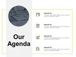 Our Agenda Checklist C118 Ppt Powerpoint Presentation Styles Tips