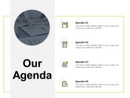 Our Agenda Checklist F96 Ppt Powerpoint Presentation Pictures Tips