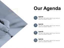 Our Agenda Checklist Planning C158 Ppt Powerpoint Presentation Gallery Slides