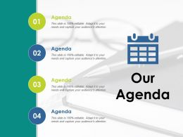 Our Agenda Checklist Ppt Visual Aids Infographic Template