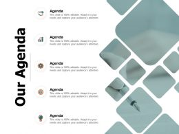 Our Agenda Gears Growth D260 Ppt Powerpoint Presentation Icon Rules