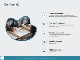 Our Agenda Heading M976 Ppt Powerpoint Presentation Summary Infographic Template