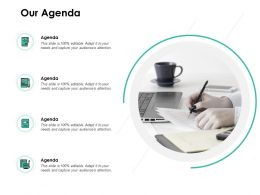 Our Agenda Management Business Ppt Powerpoint Presentation Show Designs