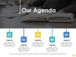 Our Agenda Management Planning Ppt Slides Design Inspiration