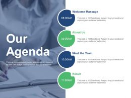 Our Agenda Meet The Team Ppt Backgrounds