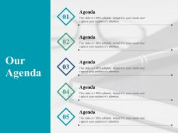 Our Agenda Planning J7 Ppt Powerpoint Presentation Outline Examples