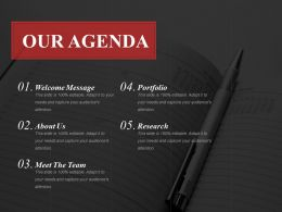 Our Agenda Powerpoint Slide Templates