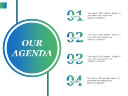 Our Agenda Ppt Icon Objects