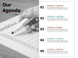 Our Agenda Ppt Professional Deck