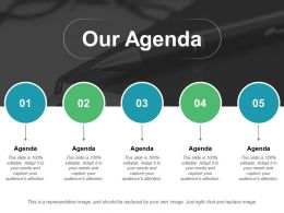 Our Agenda Ppt Professional Example Introduction