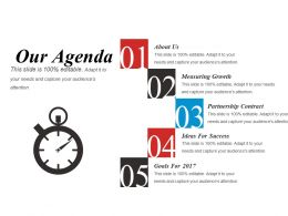 Our Agenda Presentation Portfolio