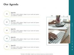 Our Agenda Project Success Metrics Ppt Outline Summary