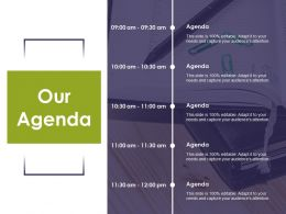 Our Agenda Strategy Planning Ppt Professional Outfit