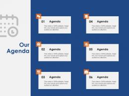 Our Agenda Success Evaluation Ppt Powerpoint Presentation Model Example