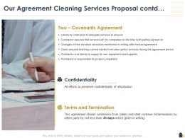Our Agreement Cleaning Services Proposal Contd Ppt Powerpoint Show