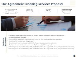 Our Agreement Cleaning Services Proposal Ppt Powerpoint Gallery