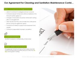 Our Agreement For Cleaning And Sanitation Maintenance Contd Ppt Powerpoint Presentation