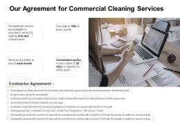 Our Agreement For Commercial Cleaning Services Ppt Powerpoint Presentation Gallery