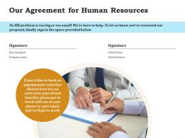 Our Agreement For Human Resources Ppt Powerpoint Presentation Summary Mockup
