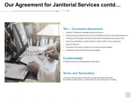 Our Agreement For Janitorial Services Contd Terms Ppt Powerpoint Presentation Professional