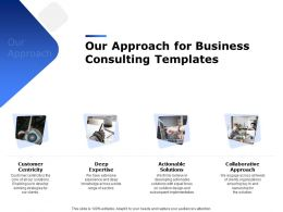 Our Approach For Business Consulting Templates Ppt Powerpoint Presentation Ideas