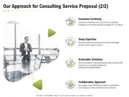 Our Approach For Consulting Service Proposal Ppt Powerpoint Presentation Slides Sample