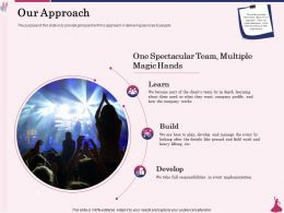 Our Approach Spectacular Team Ppt Powerpoint Presentation Show
